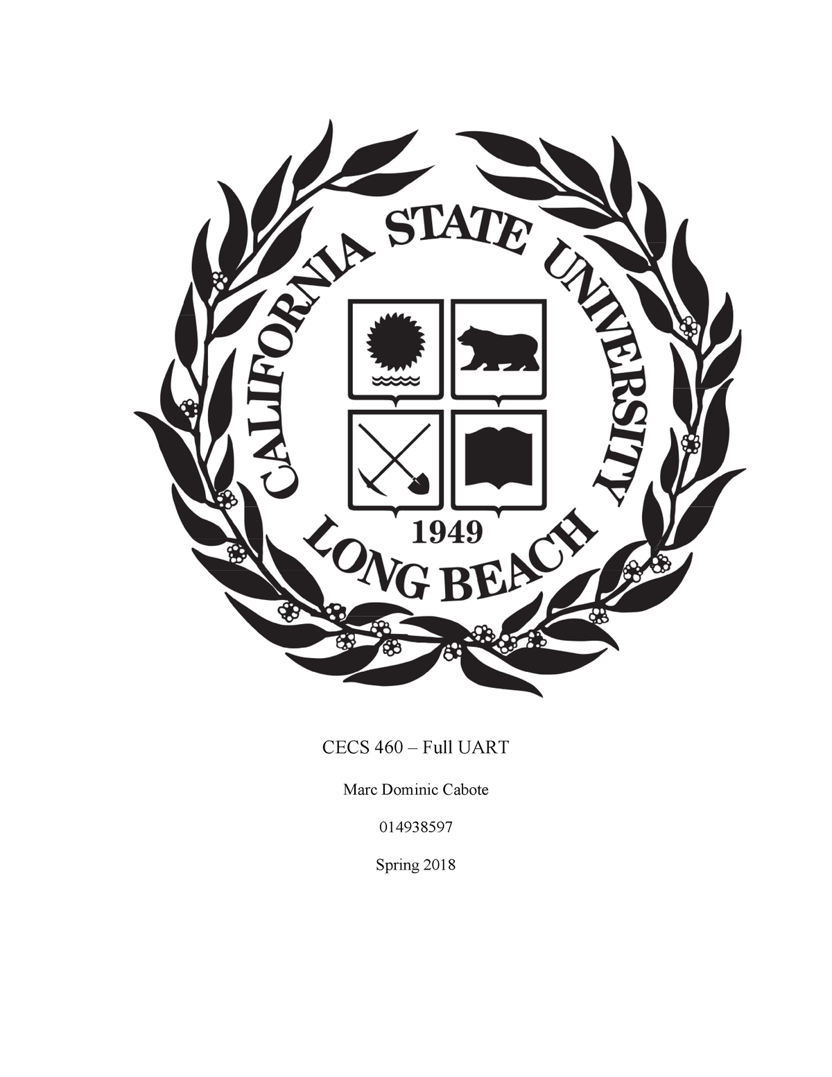 Uart Spec - UART specifications - CECS 460H - CSULB - StuDocu
