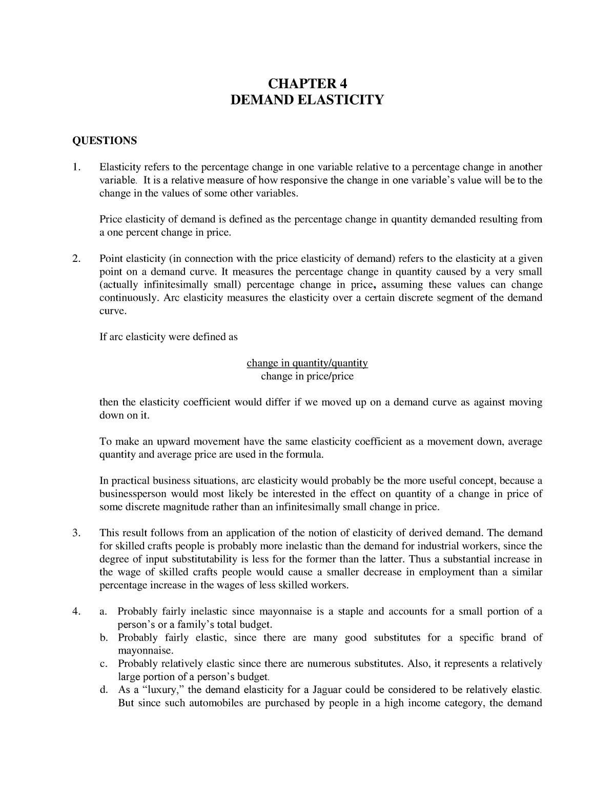 Chapter 4 Demand Elasticity Makrookonomik Ude Studocu