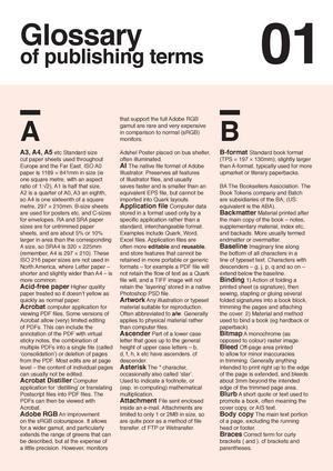 Print terminology - Lecture notes 4 - CS2023: Print