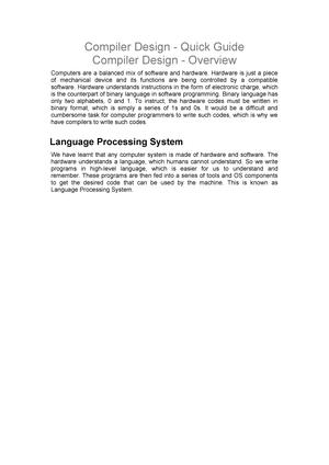 Compiler Design Quick Advance Database Management Cit 701 Studocu