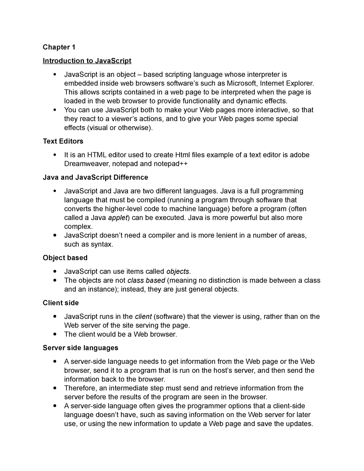 Web development D p notes - Web Design and DTP - StuDocu