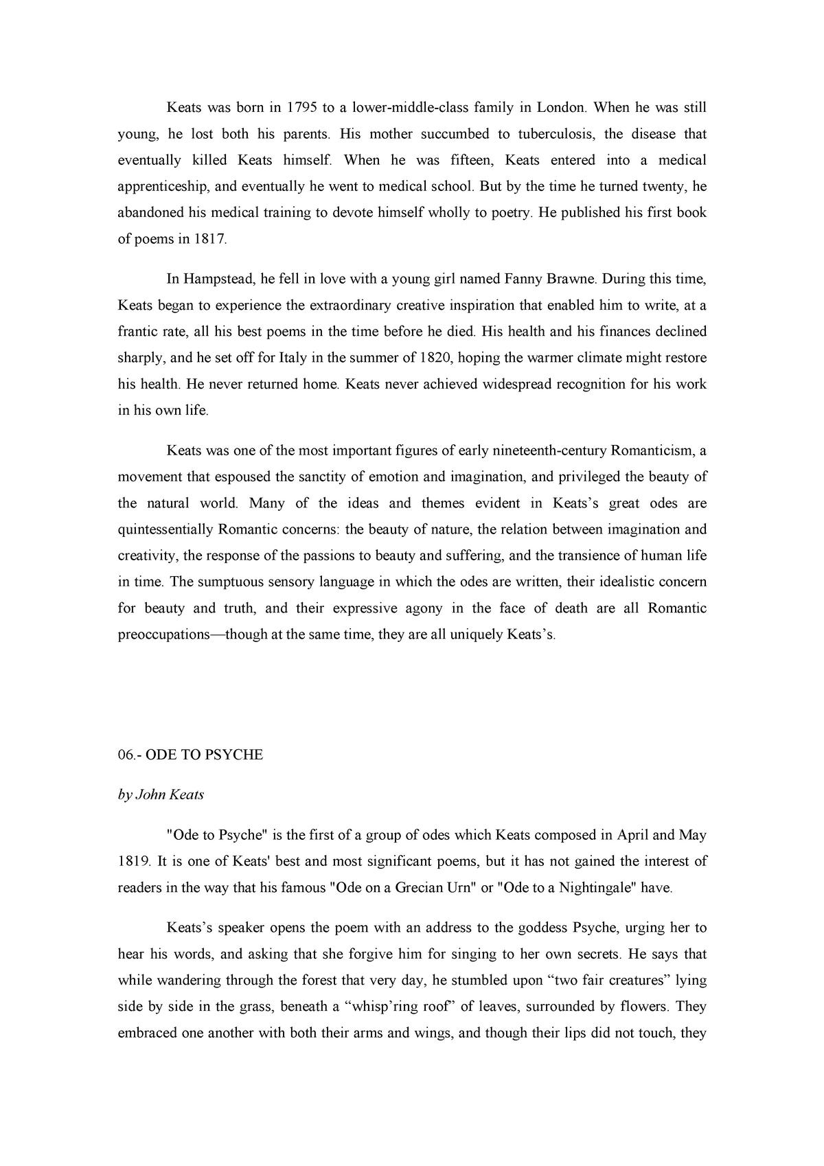 06 John Keats Poesía Y Poéticas Del Romanticismo 802240