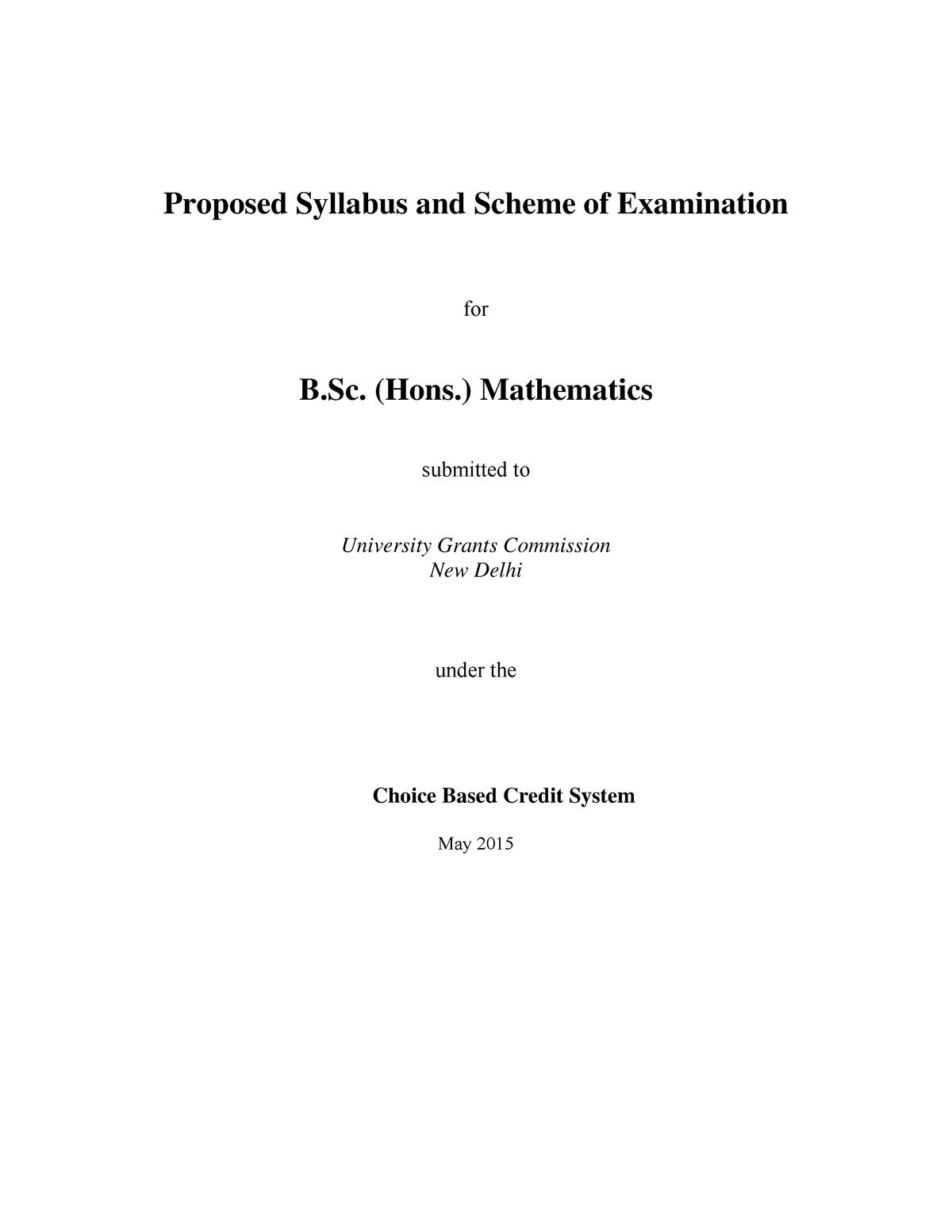 Maths syllabus by ugc - Ncert solutions - StuDocu