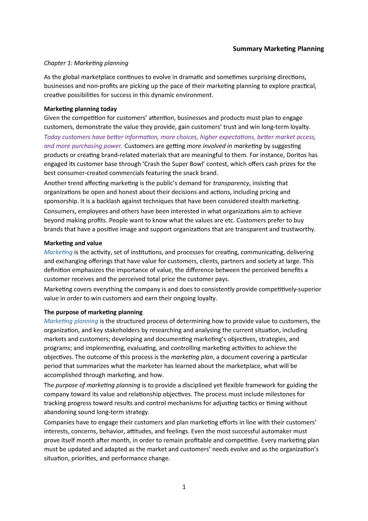Summary Fundamentals of Strategy 26 Jul 2015 - StuDocu