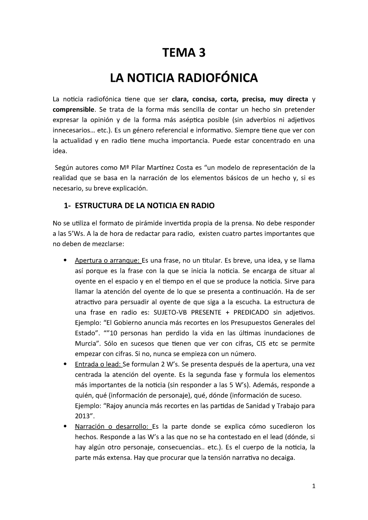 Apuntes Temas 3 4 Radio Informativa 41341 Uva Studocu