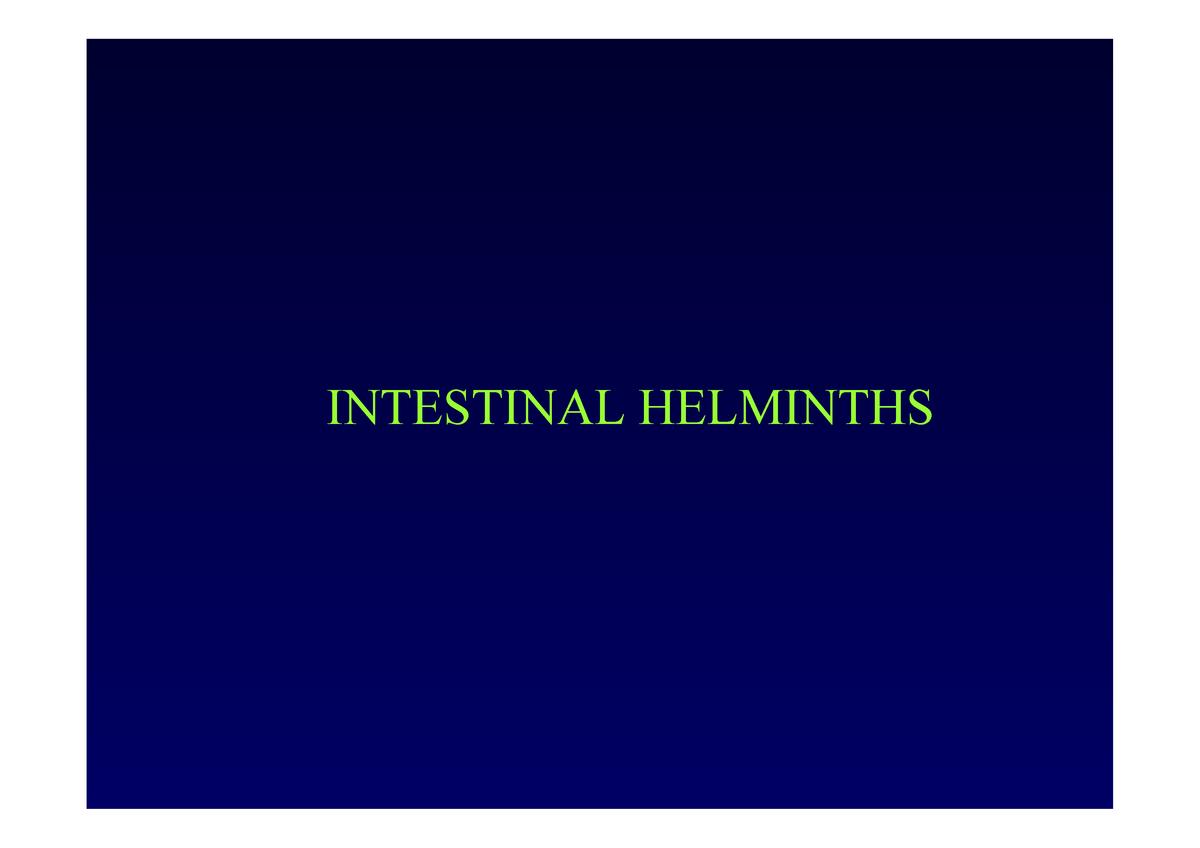 helminták a végbélnyílásban