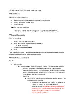 Zomerhuis Met Zwembad Samenvatting.Samenvatting Zakenrecht 30 May 2016 Studeersnel Nl