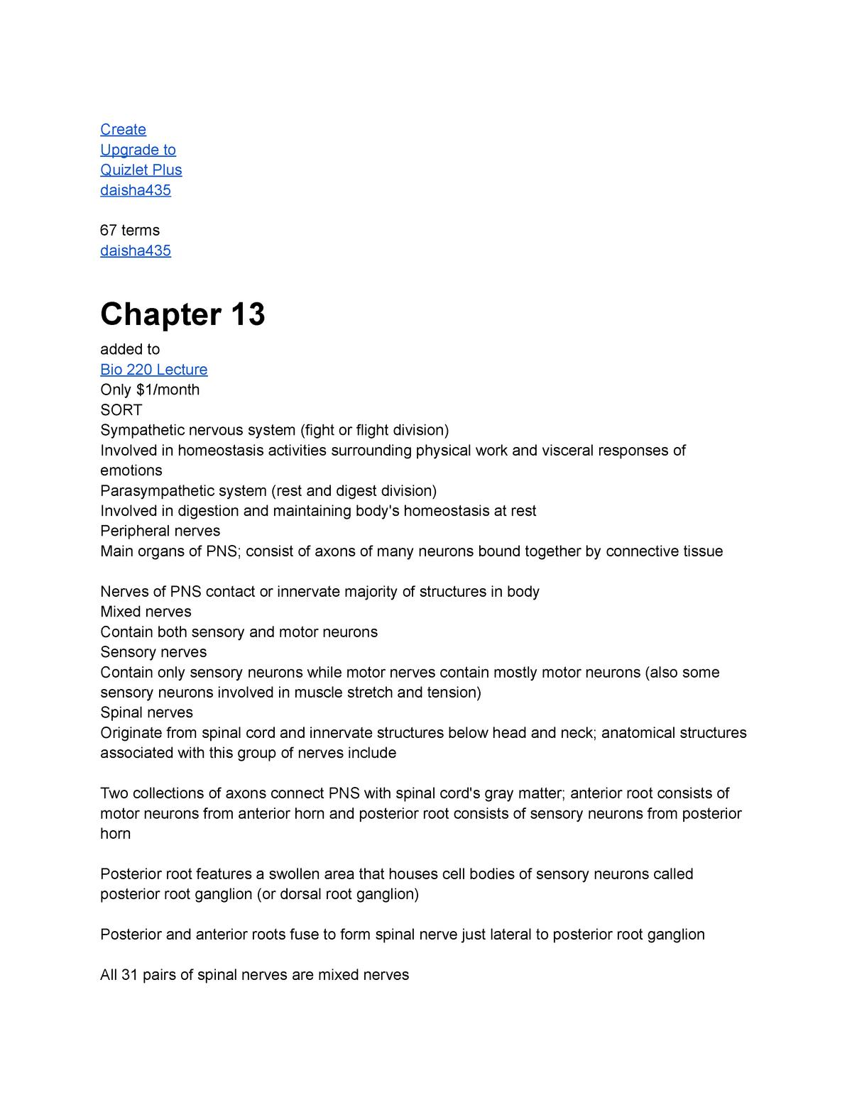 Chapter 13 - Lecture notes 13LlnznkjzNxjxnjnxp - BIOL 220