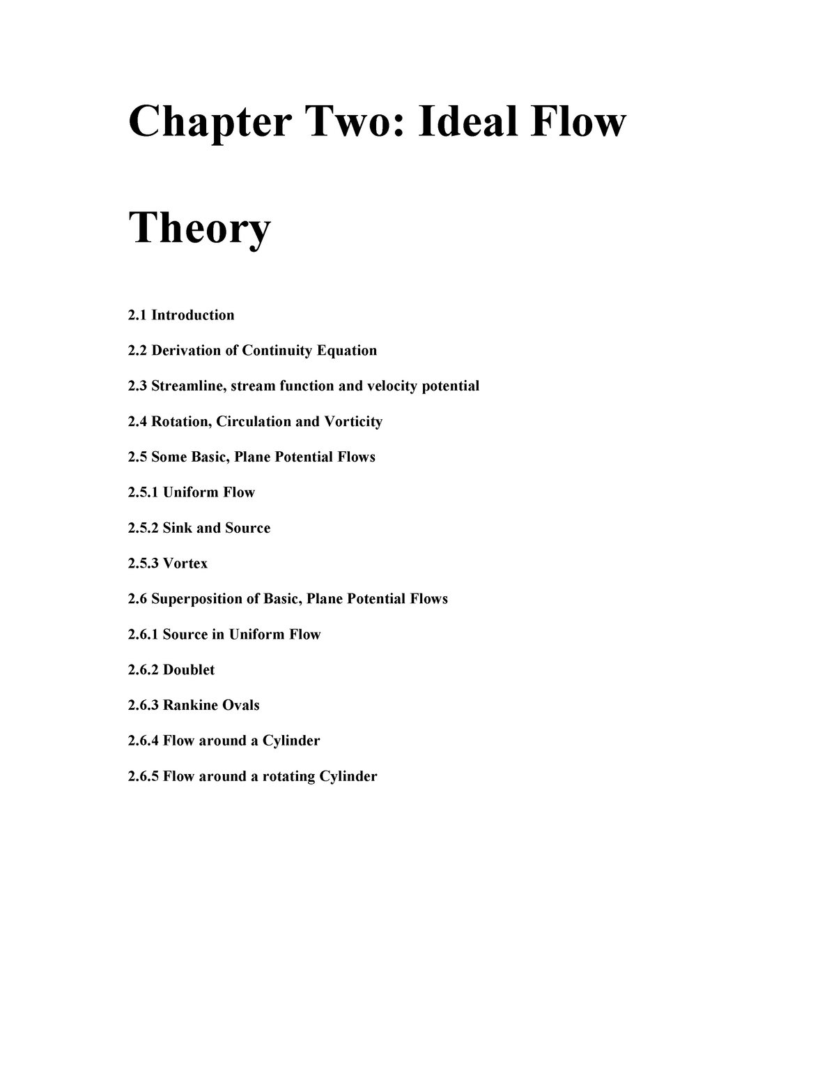 Chapter 2 Ideal flow theory - Mechanics of Fluid II - StuDocu