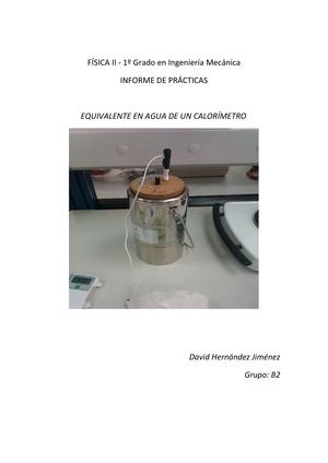 6d7693c19 Informe Equivalente en agua de un calorímetro - 44102202 ...
