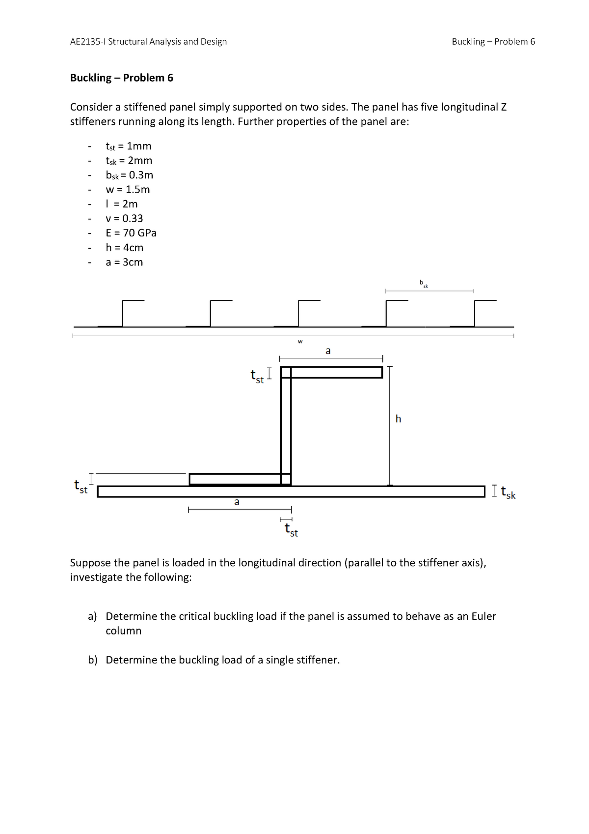 Seminar assignments - Solution F-6 - AE2135-I: Structural