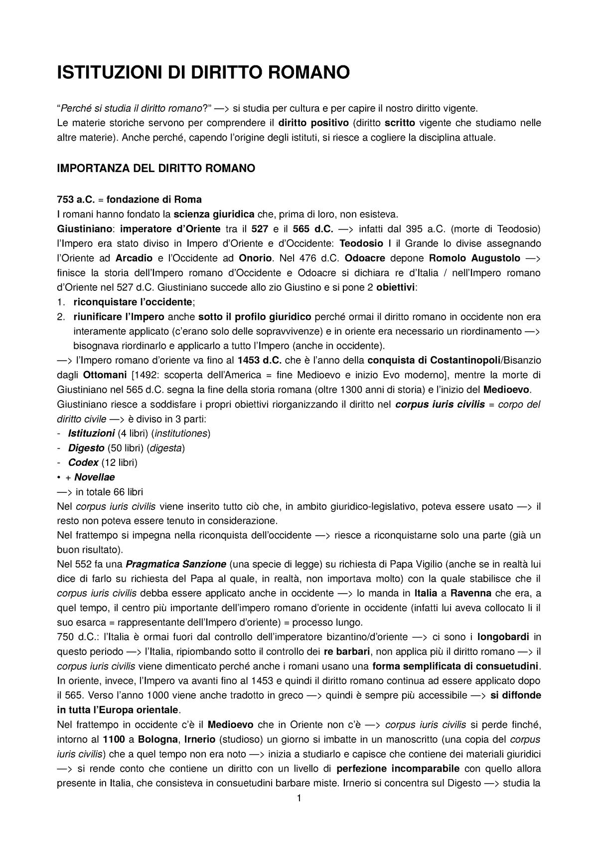 Diritto Romano Giurisprudenza Unimi Studocu