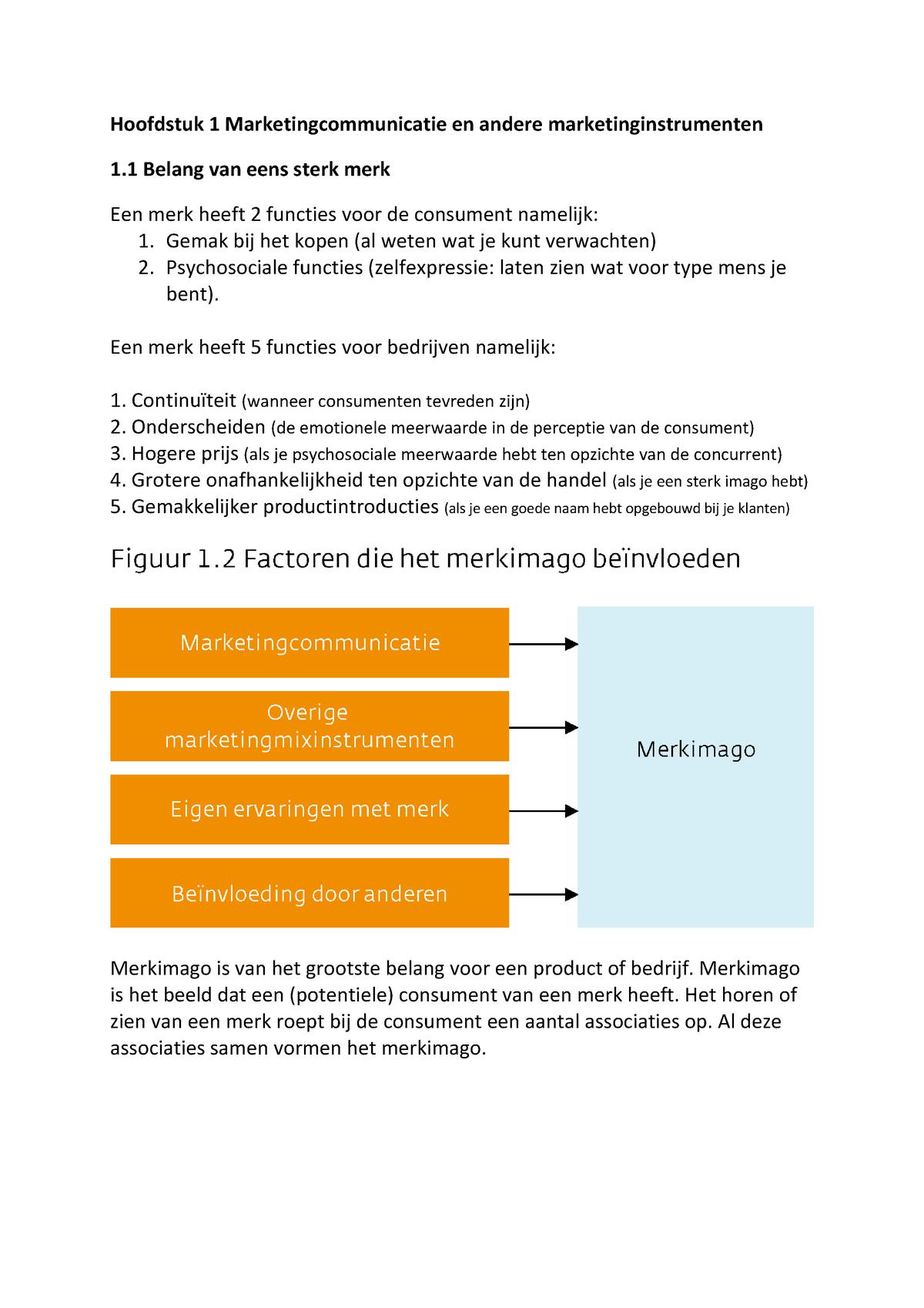 a881289e0be1f4 Samenvatting Marketing communicatie, philip Kotler en - StudeerSnel.nl