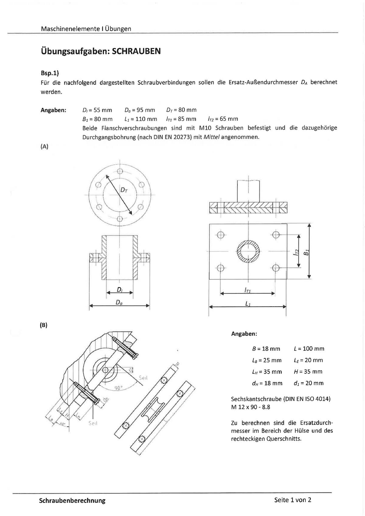 bungen bungsaufgaben zu schrauben mit l sungen 310. Black Bedroom Furniture Sets. Home Design Ideas
