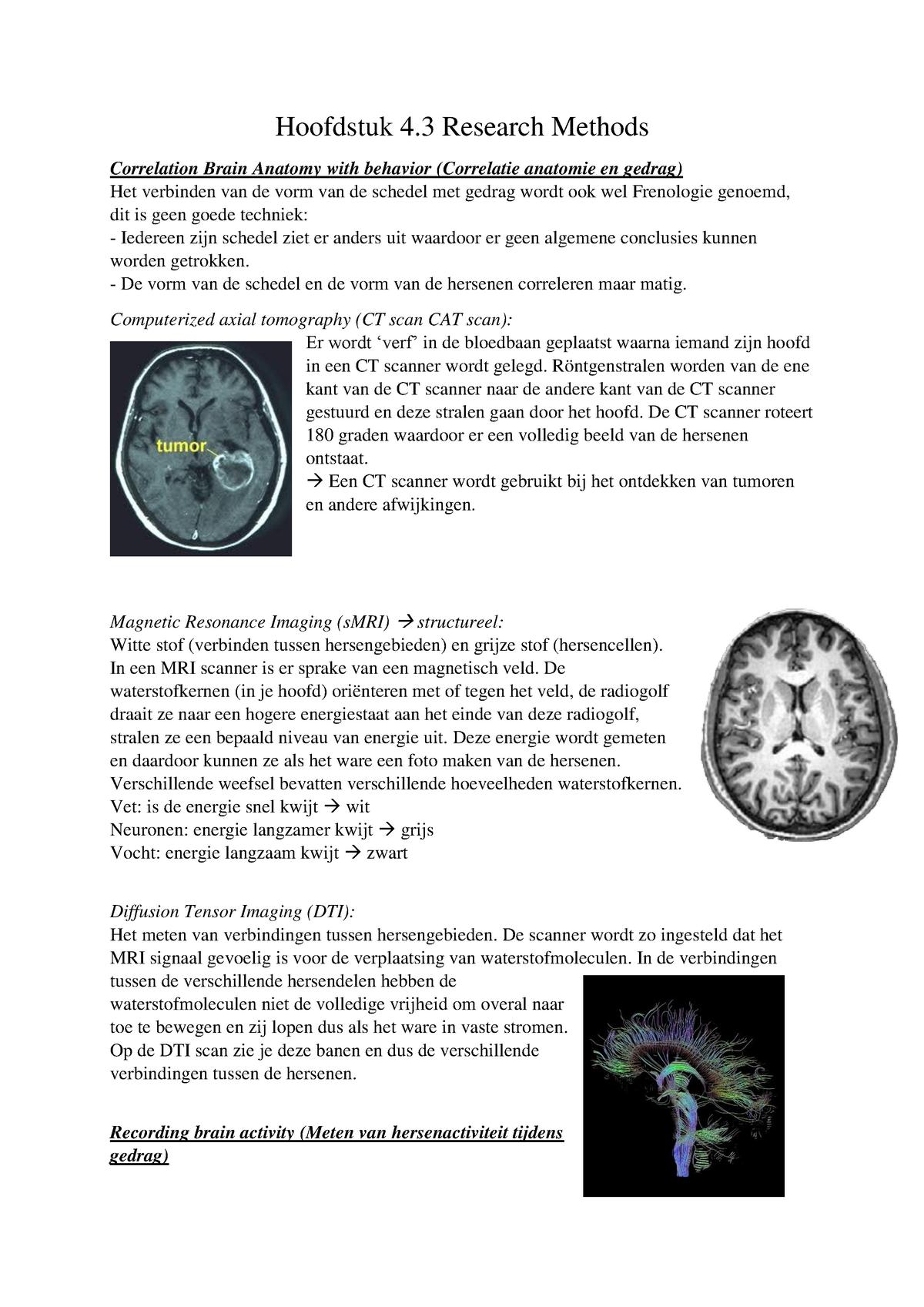 Samenvatting Klinische En Biologische Psychologie