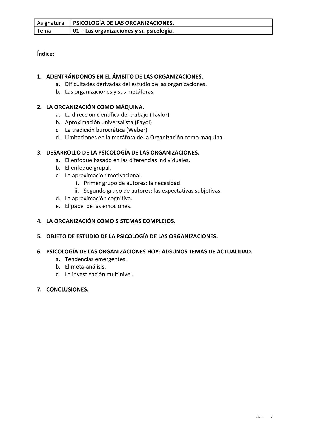 Resumen Psicología De Las Organizaciones 62013059 Uned