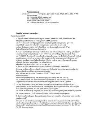 Week 6   werkgroep 6   3011CRX7YV: Constitutioneel recht   StuDocu