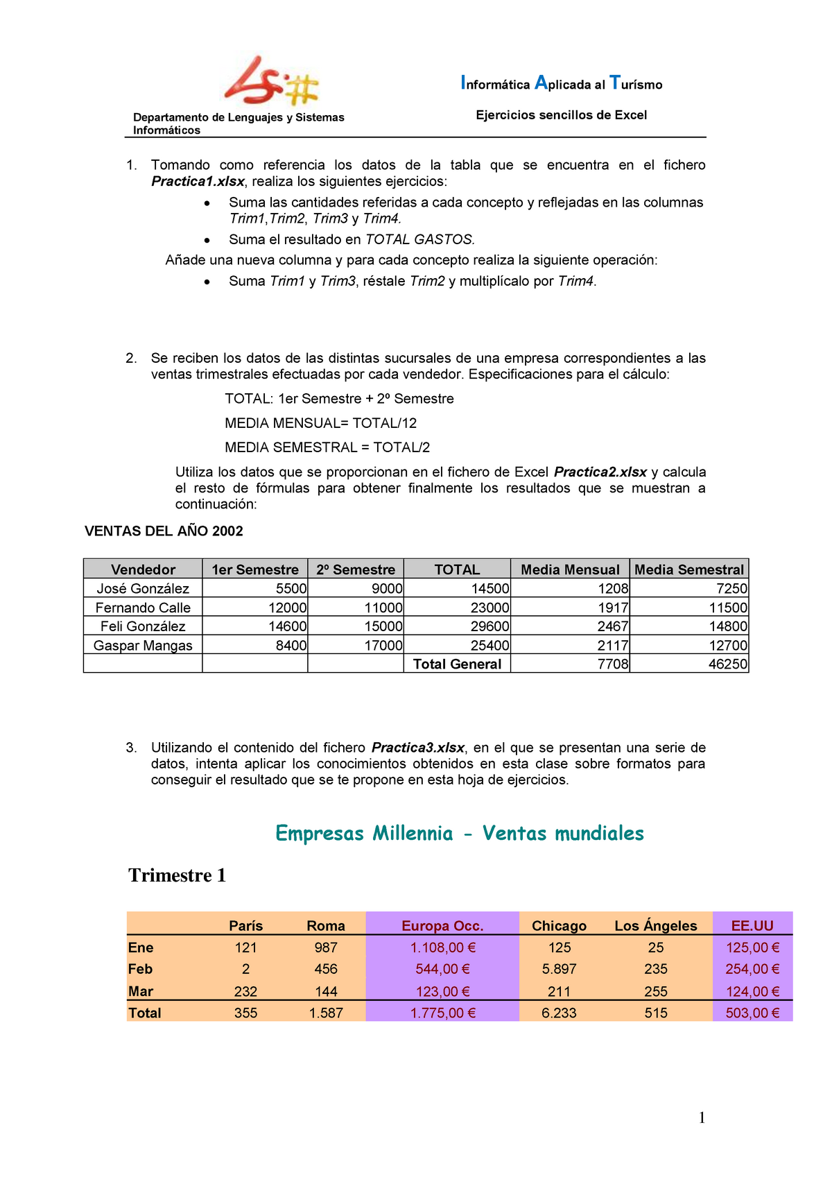 Ejercicios Sencillos Excel   20   UA   StuDocu