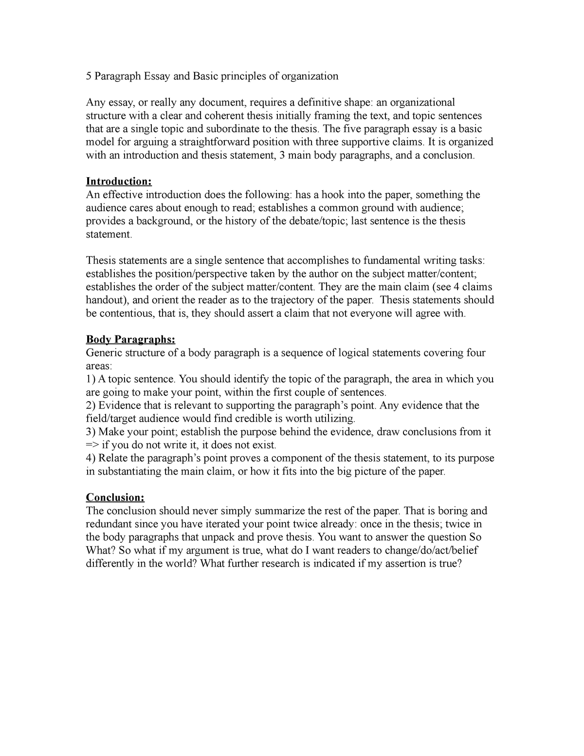 5 paragraph essay info  i don't know what to write here