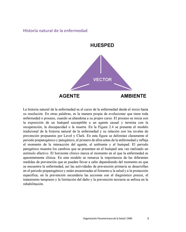 Historia Natural De La Enfermedad Ops Bioetica Studocu