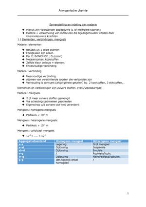 Ac Samenstelling Materie Deel 1 Anorganische Chemie 1