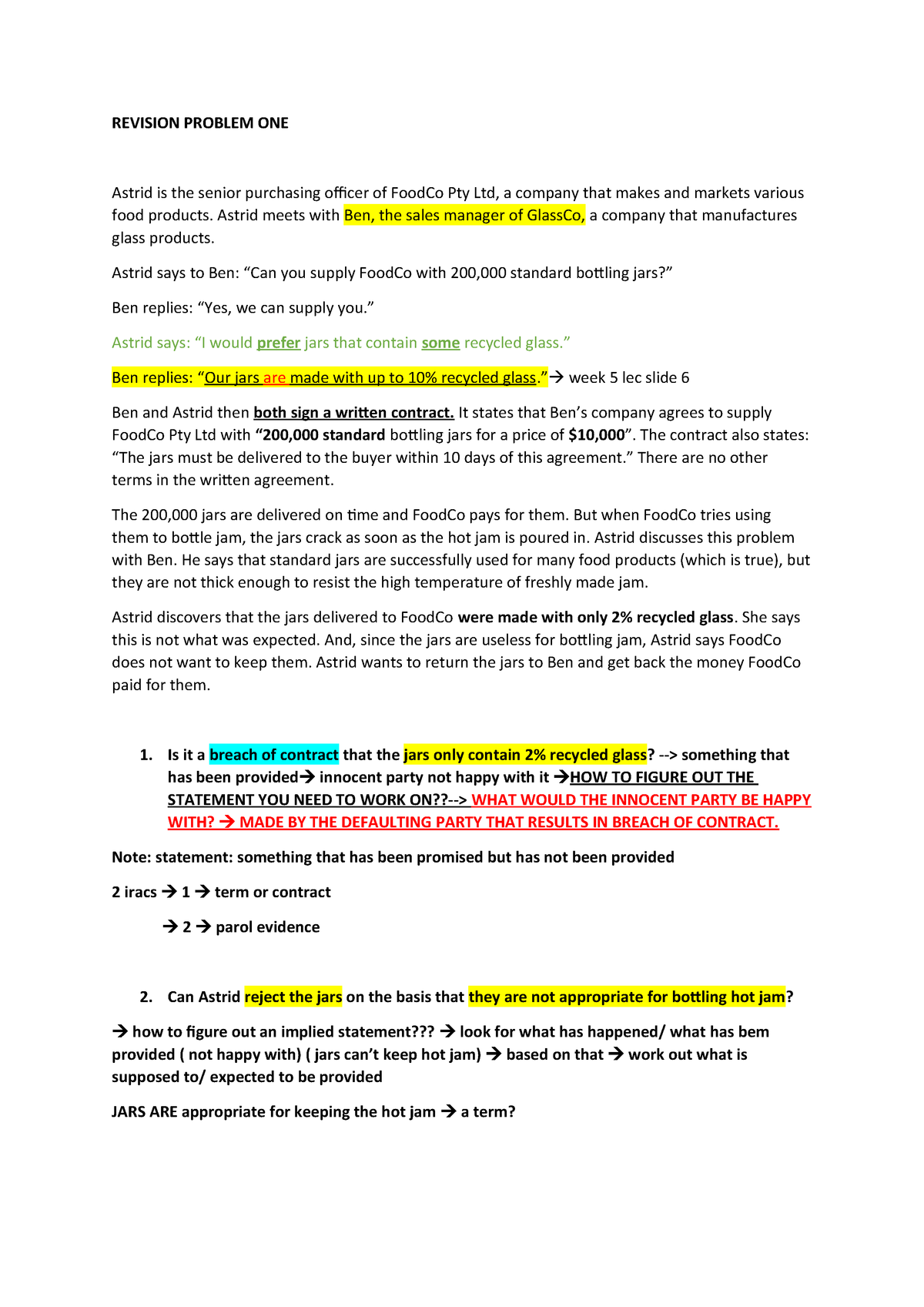 Week 12 revision problems - LST2BSL - LaTrobe - StuDocu