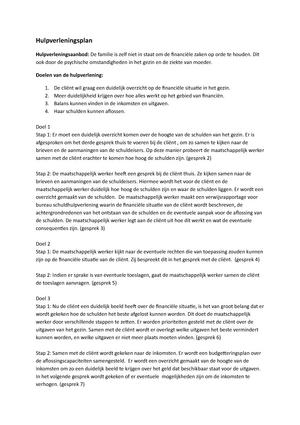 plan van aanpak schuldhulpverlening voorbeeld Voorbeeld schuldhulpverleningsplan   MDVH0SHV: Schuldhulpverlening  plan van aanpak schuldhulpverlening voorbeeld