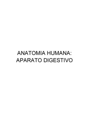 Anatomía del Aparato Digesativo - Anatomia Esplacnología - StuDocu
