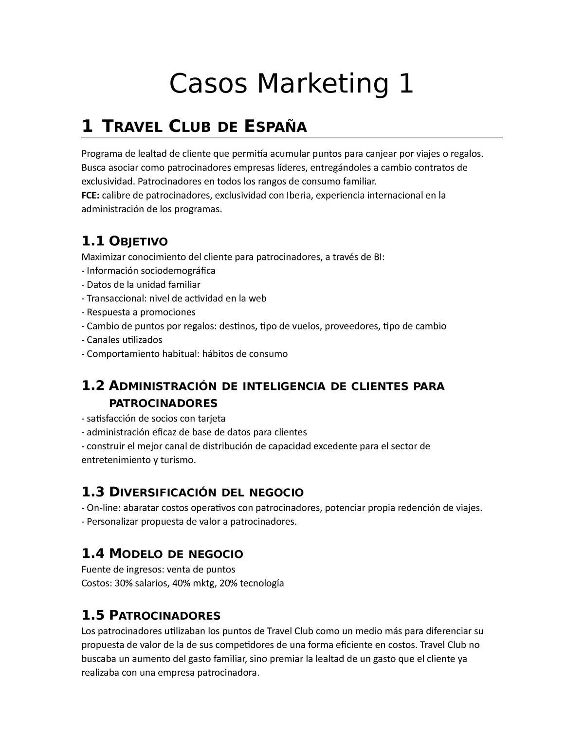 Casos Marketing 1 Nota 60 Ica 3231 Pucv Studocu