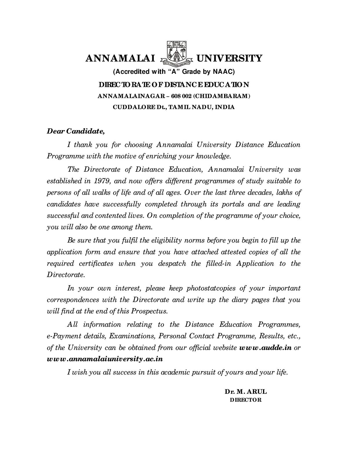Annamalai University Directorate Of Dist Blaw002 Studocu