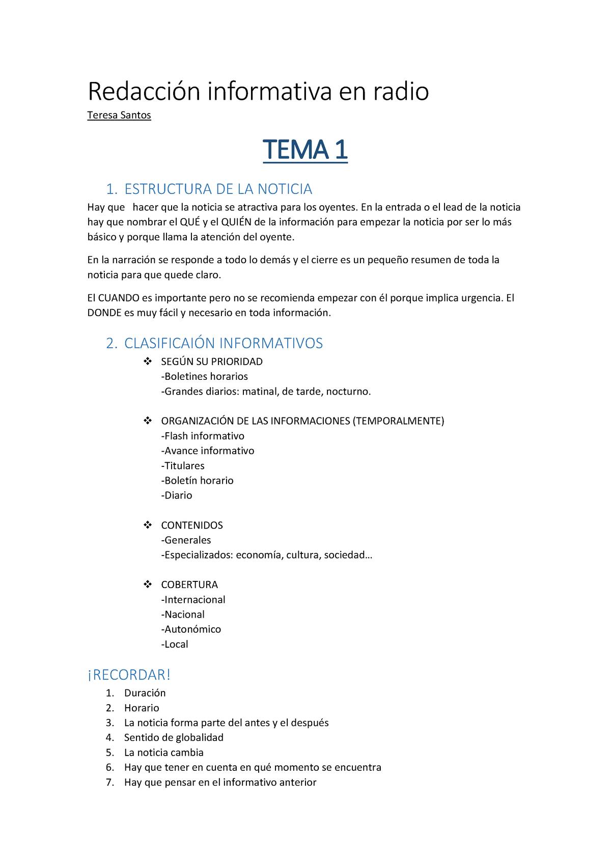 Apuntes Temas 1 5 Profesora Teresa Santos Upv Studocu