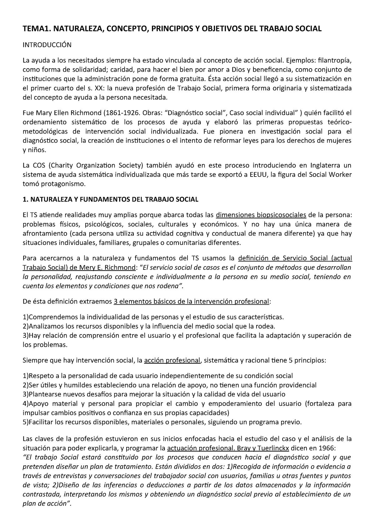 0c4ada489786 1. Naturaleza, concepto, principios y objetivos del TS - StuDocu