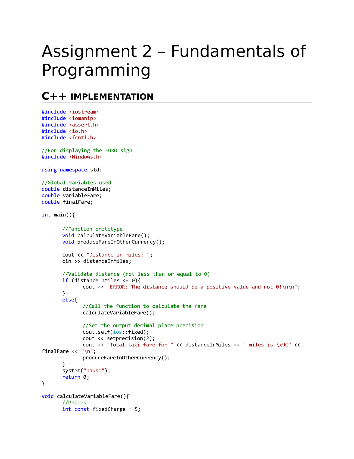 Fo P HWk#2 RR Assignment 2 - fundamentals of programming