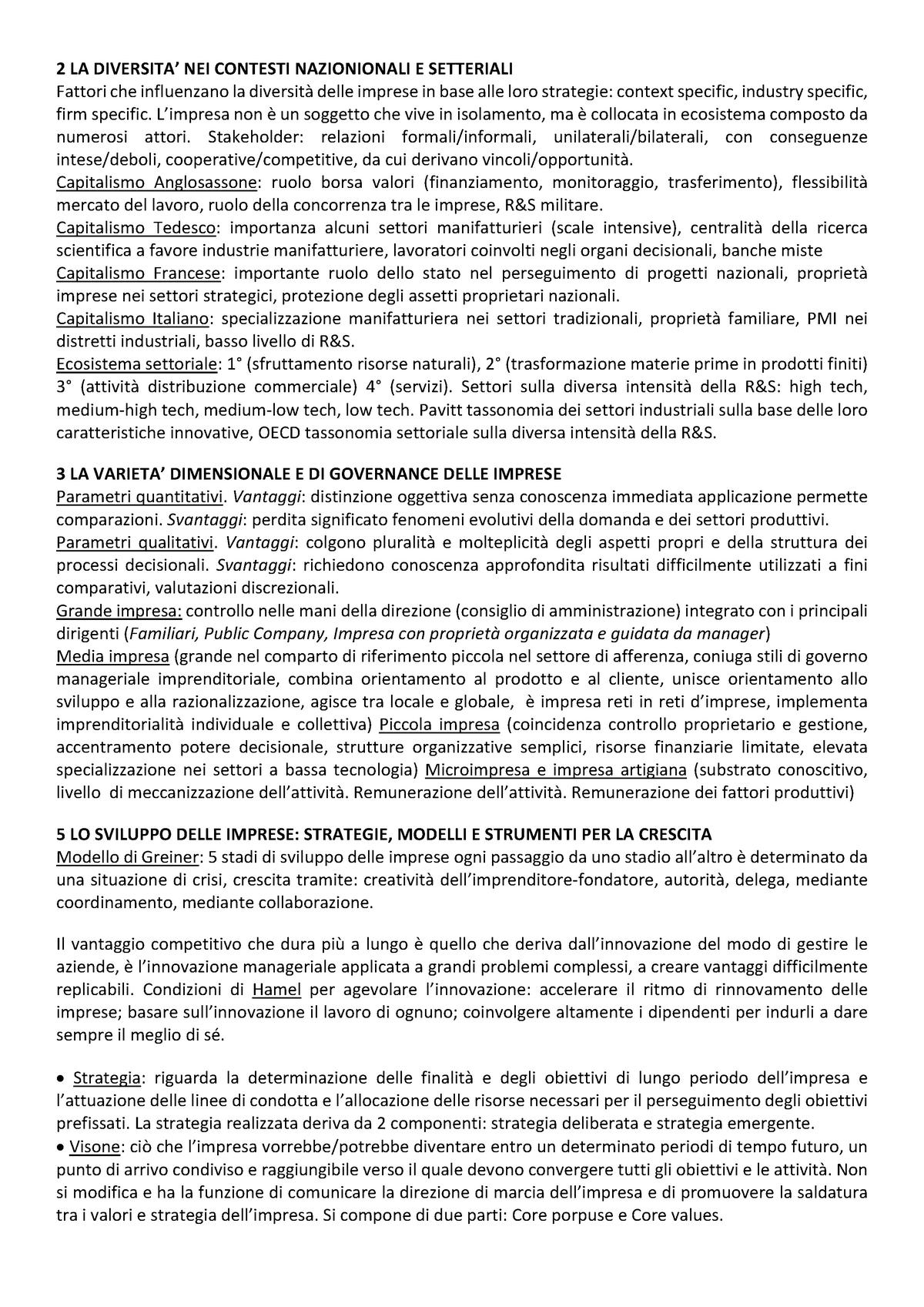 06fcae36443d Riassunto BREVE - Economia e Gestione delle imprese - StuDocu