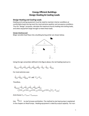 2011-2012 Lecture 11 - Design Heating & Cooling Loads - MEE