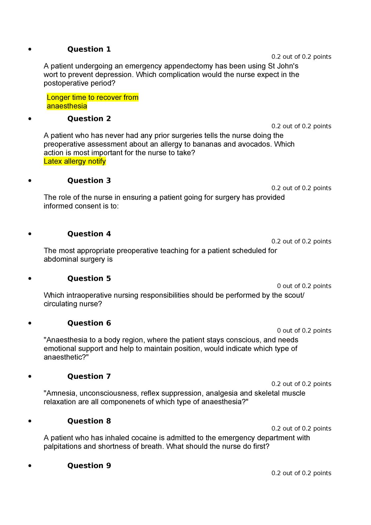 Exam 2019 - NCS2101: Adult Health - StuDocu