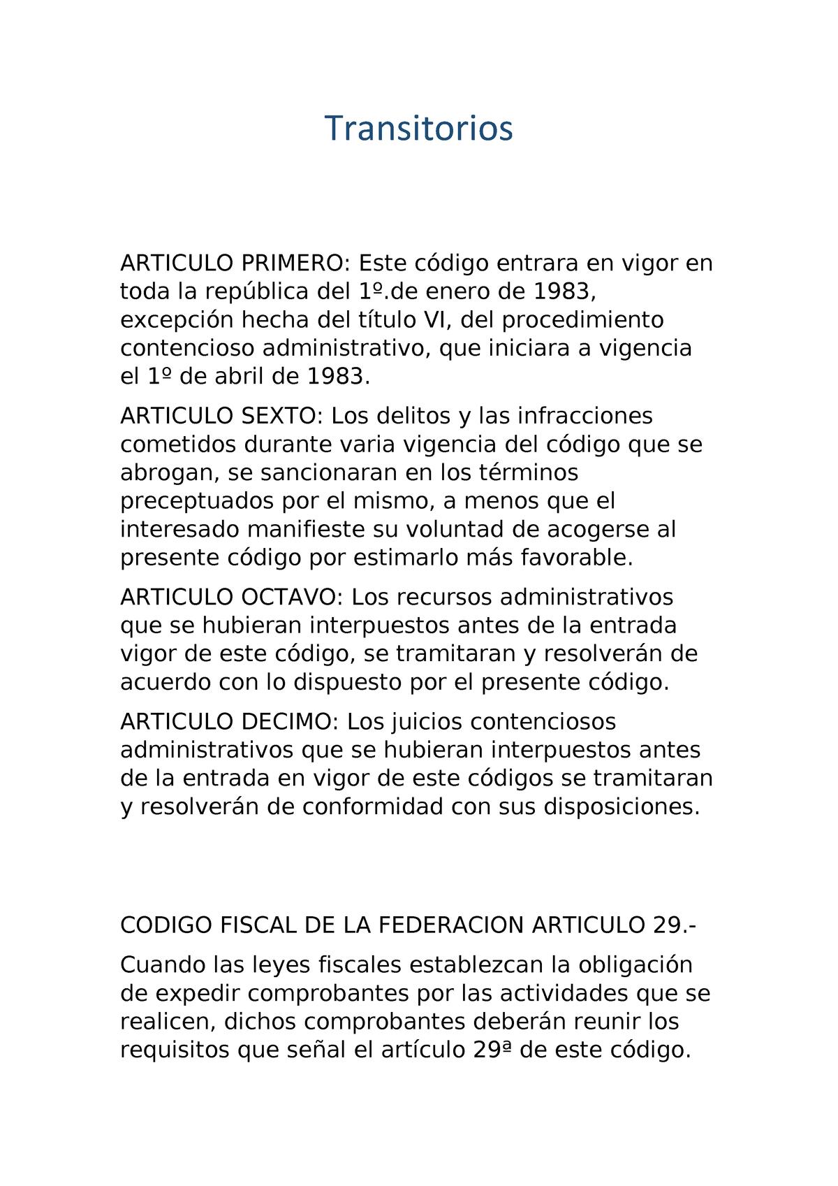 codigofiscaldelafederacion - Código Fiscal De La Federación