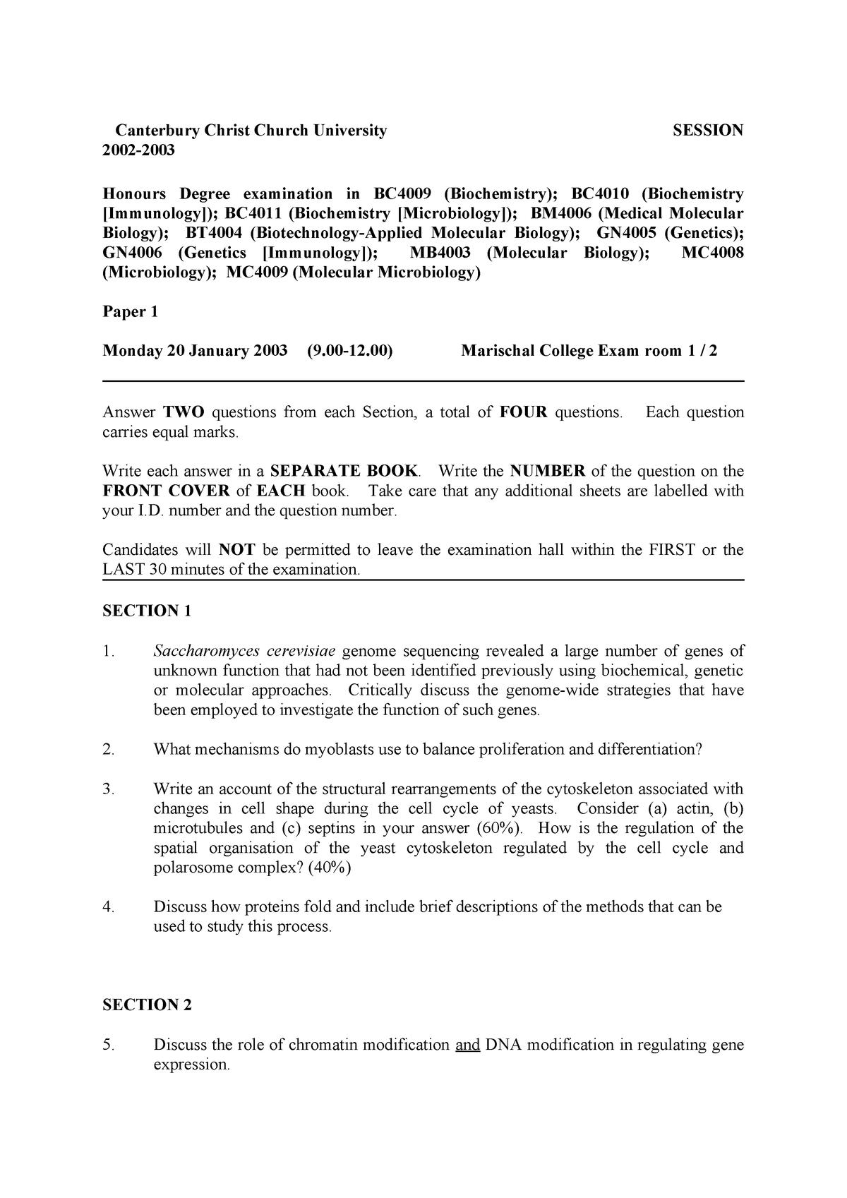 Tenta 2018 - :Microbiology - StuDocu