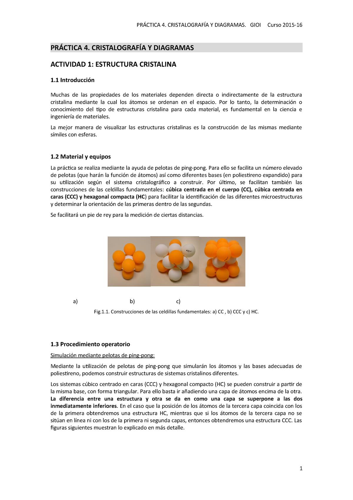 Práctica 4 Cristalografia Ciencia De Materiales 11411