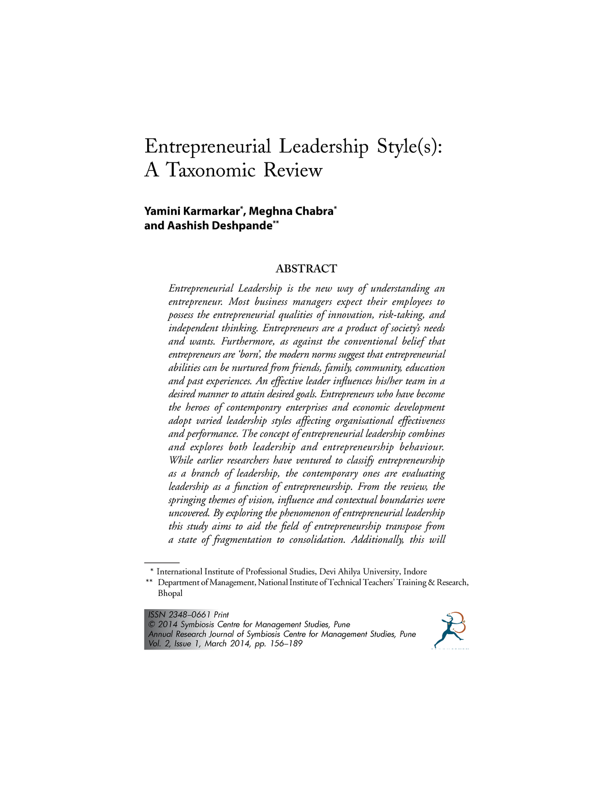 Chapter 13 - Lecture notes 1,2,3 - 47000: Management and
