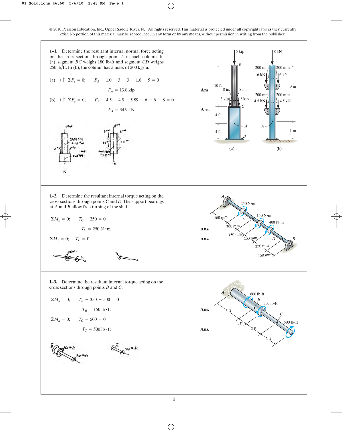 Chapter 01 - Solution manual Mechanics of Materials - CE222