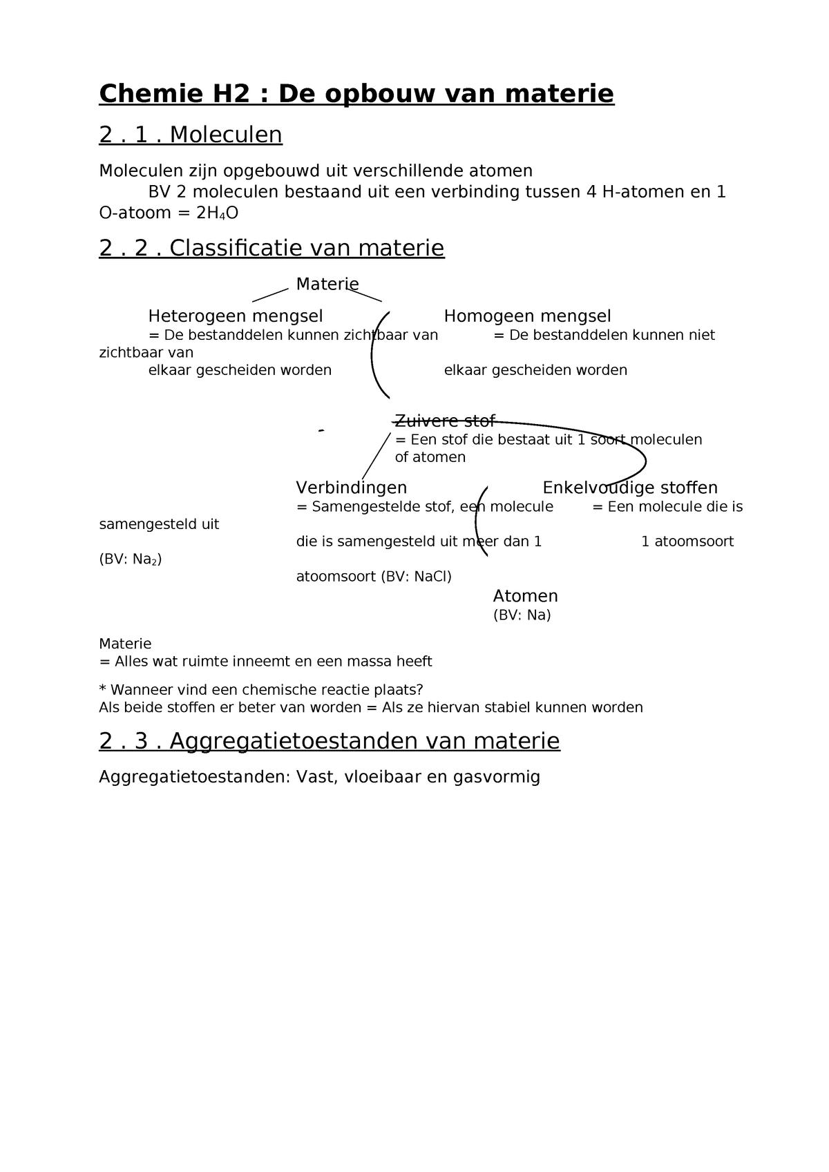 Chemie H2 Thomas More Studocu