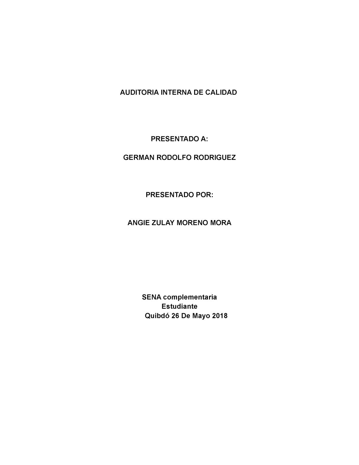 procedimiento mandatorio de auditoria interna de calidad iso 9001
