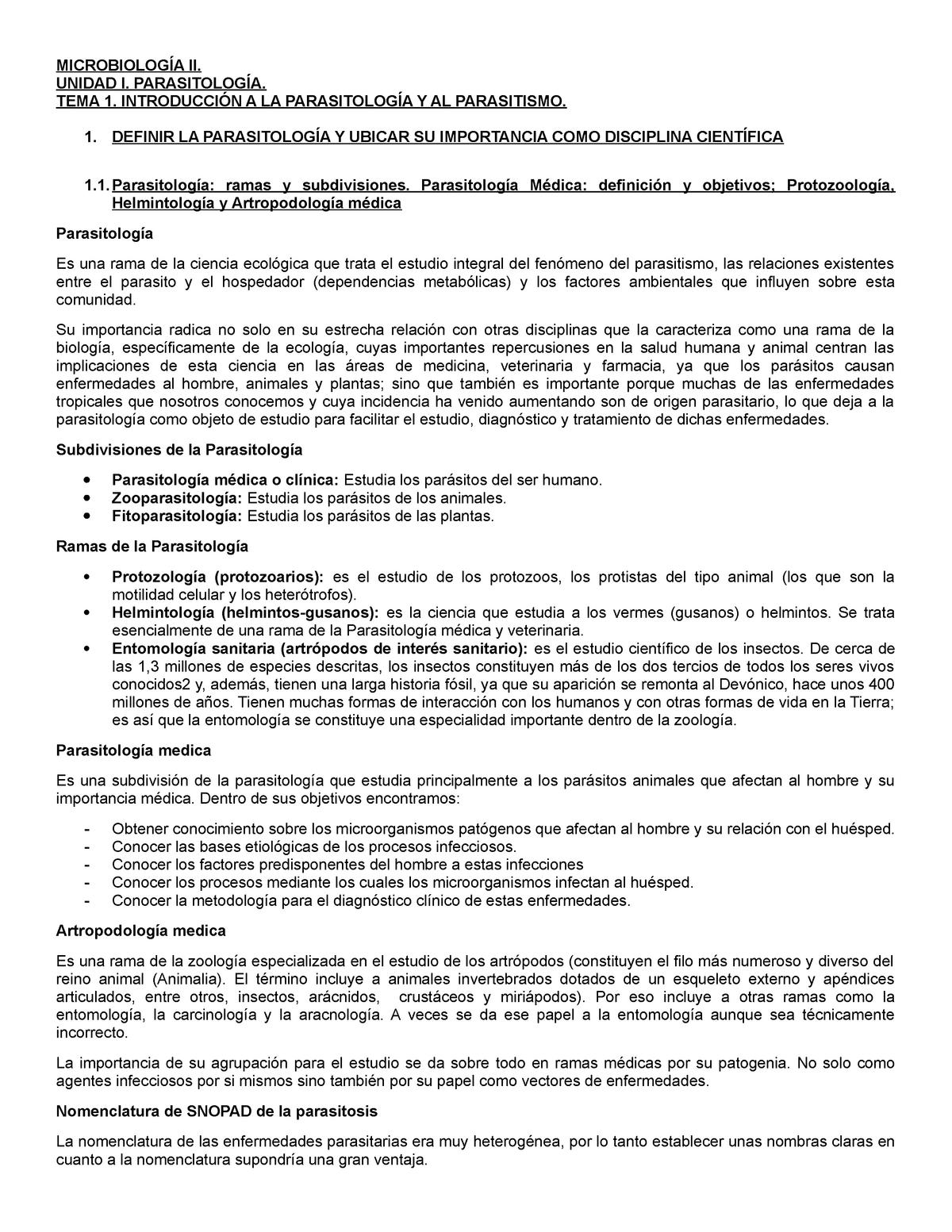 parasitología clínica al servicio de la salud en panamá y el mundo