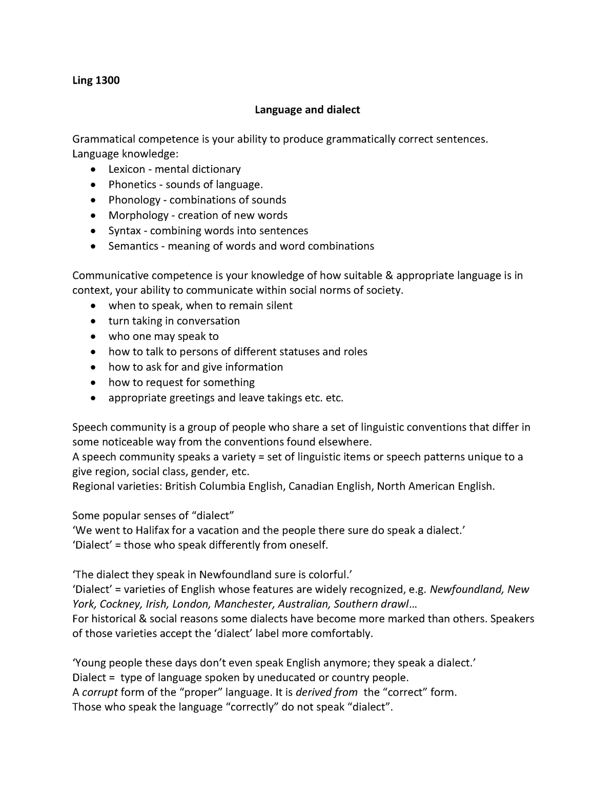 Ch 2B L&D PPT Notes - Dr  Paivi Koskinen - LING 1300