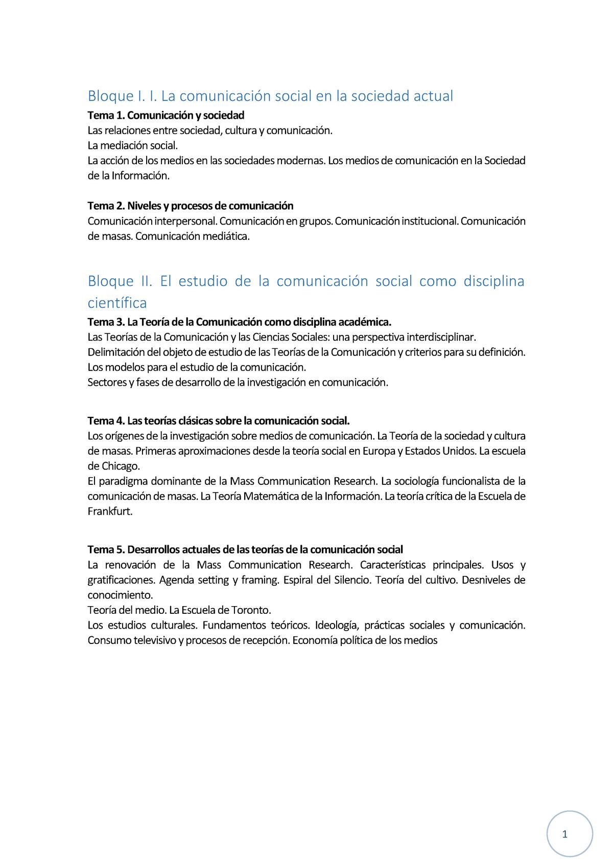 Apuntes Prof Enric Saperas Teorías De La Comunicación