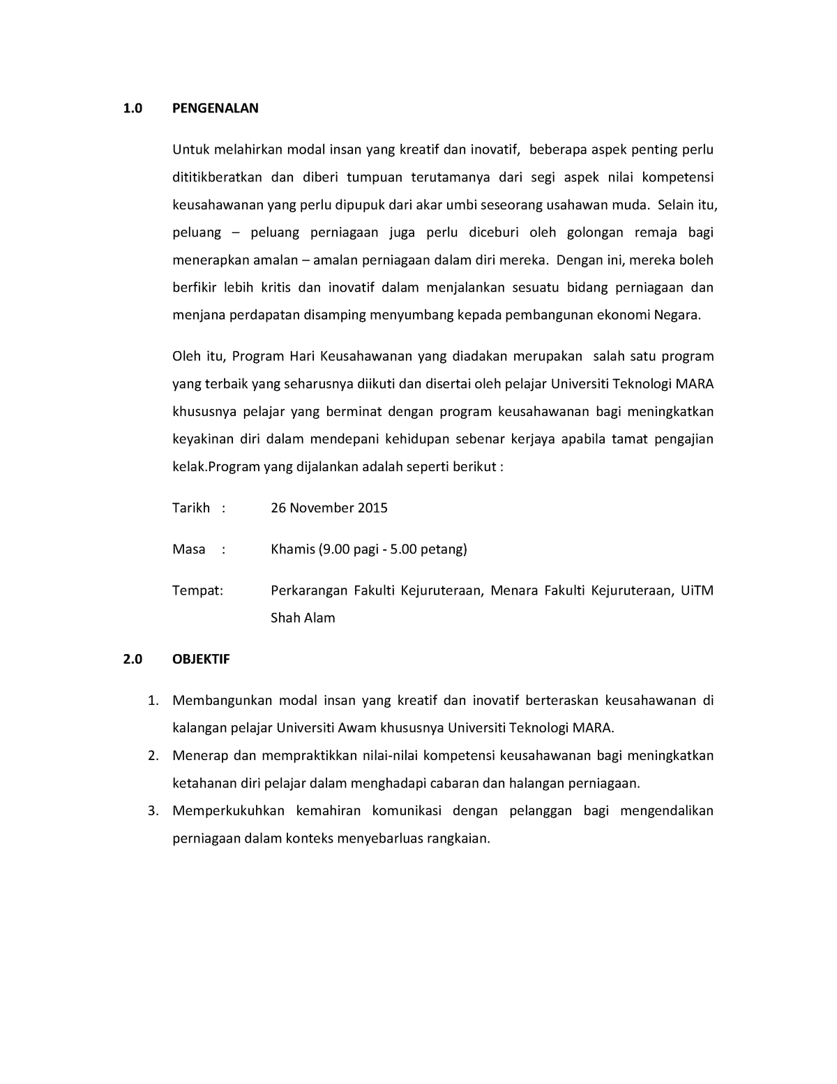 Report Jualan Writing Assignment By Hazree Tajuddin Studocu