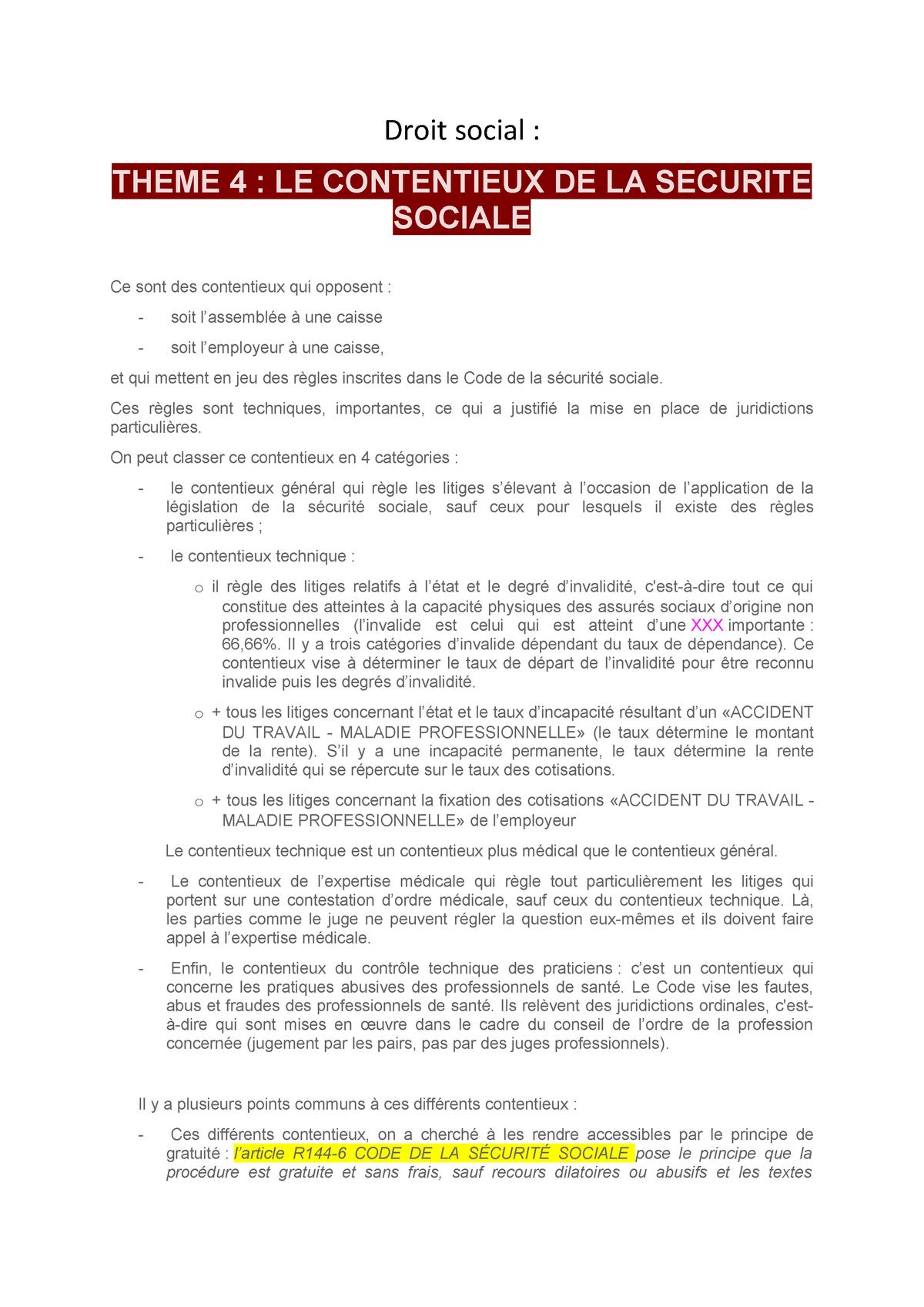 Droit Socia 4 Toulouse Jean Jaures Studocu