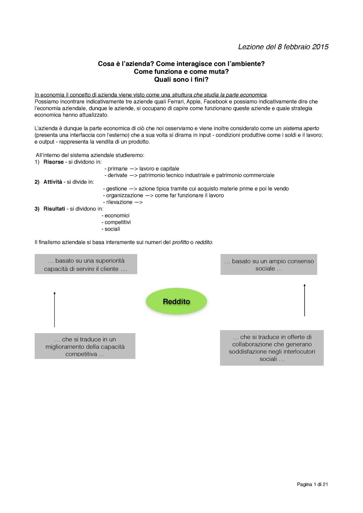 Economia aziendale IULM StuDocu