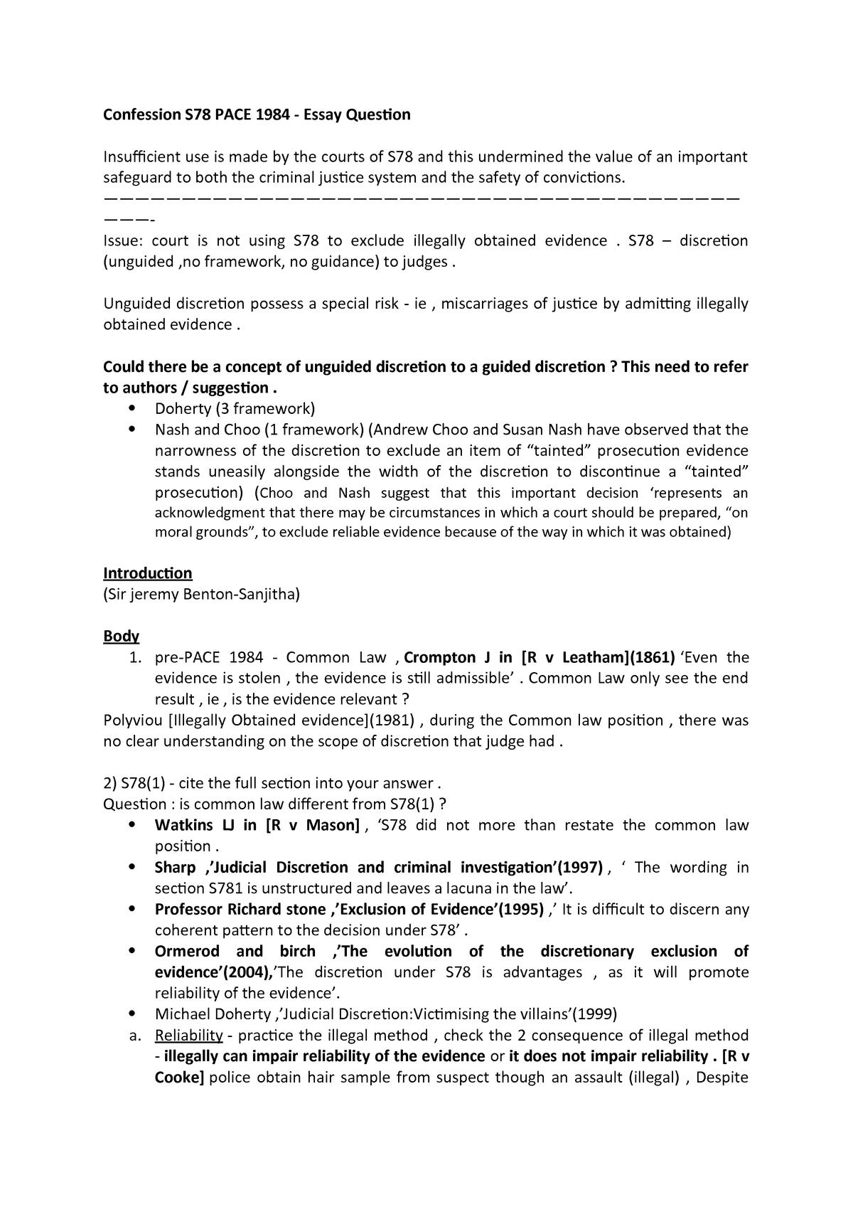 s78 pace essay